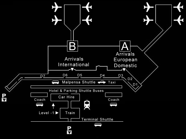 Airport Malpensa Terminal 1 Map